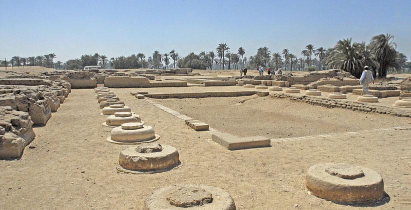 Руины северного дворца Нефертити в Тель-эль-Амарна