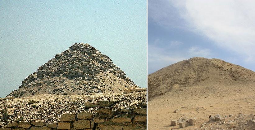 Пирамида Усеркафа и Тети в Саккаре