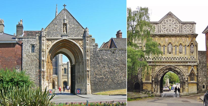 Средневековые ворота Эрпингем и Этельберт (Нориджский собор)