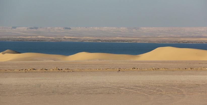 Озеро Карун (Меридово озеро) в Египте