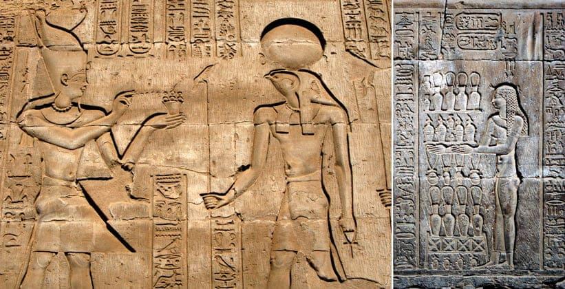 Настенная живопись храма Хароериса и Себека в Ком-Омбо
