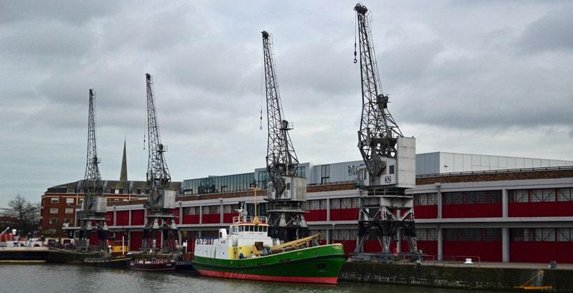 Бристольский порт в Англии