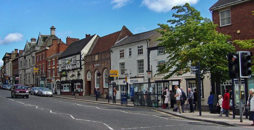 Городок Эшби-де-ла-Зуш в Англии