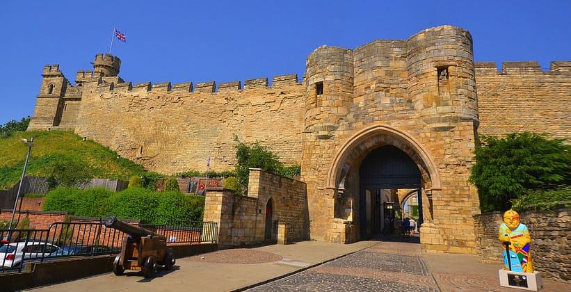 Замок Линкольна в Англии