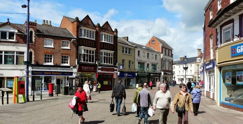 Городок Мелтон-Моубрей в Англии