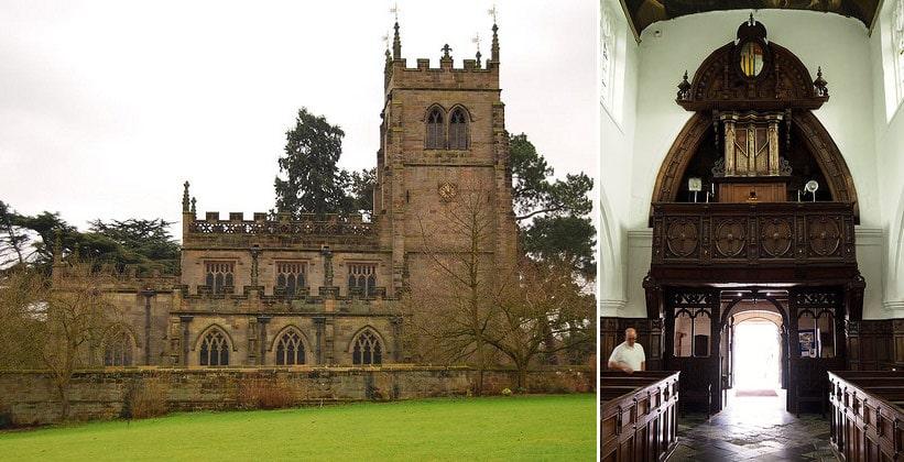Церковь Стонтона Харольда в Англии