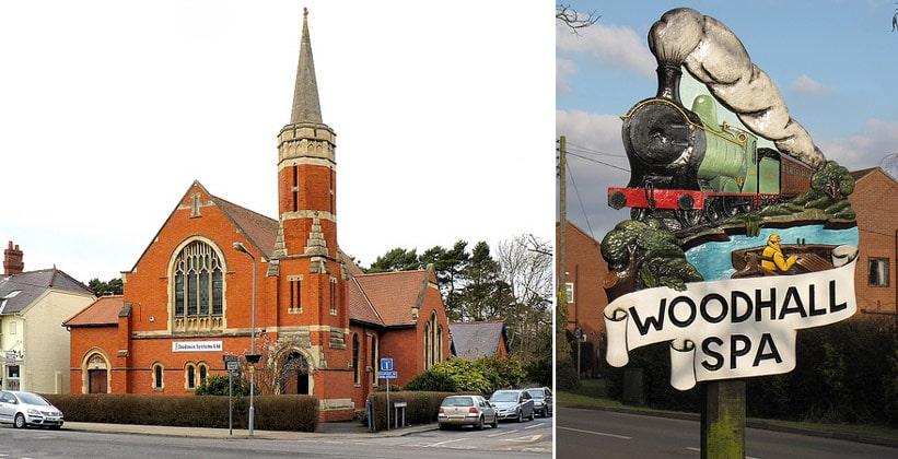 Деревня Вудхолл-Спа в Англии