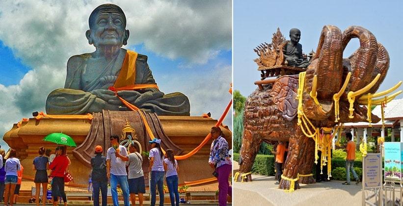 Храм Wat Huay Mongkol в Хуахине (статуя монаха Luang Pu Thuat)