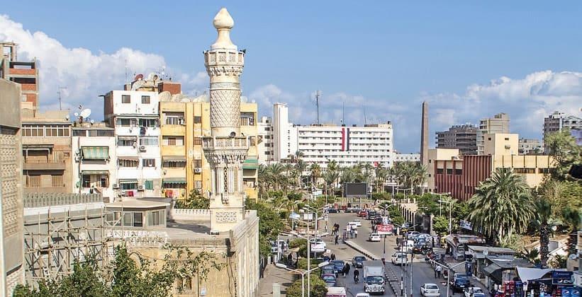 Город Порт-Саид в Египте