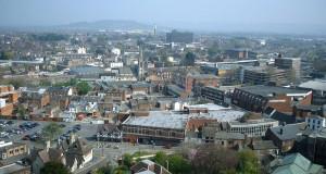 Город Глостер в Англии