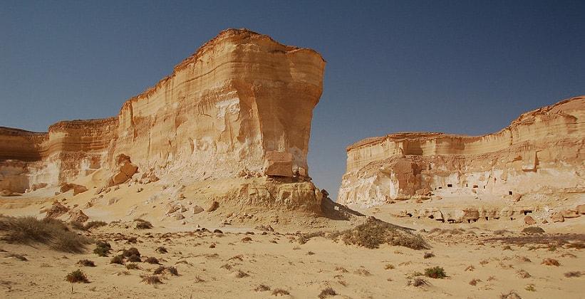 Скалы Великого песчаного моря в Египте