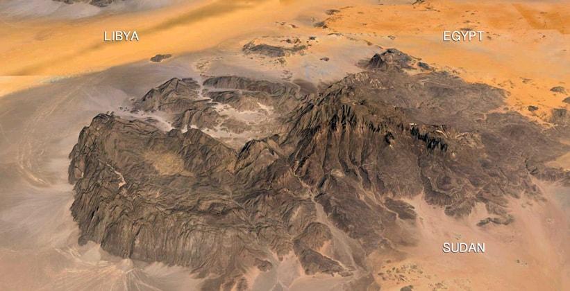 Гора Джебель Увейнат в Египте