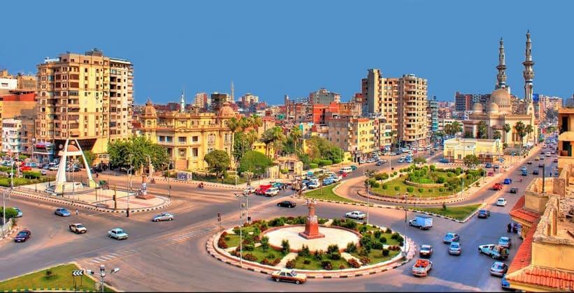 Город Эль-Мансура в Египте