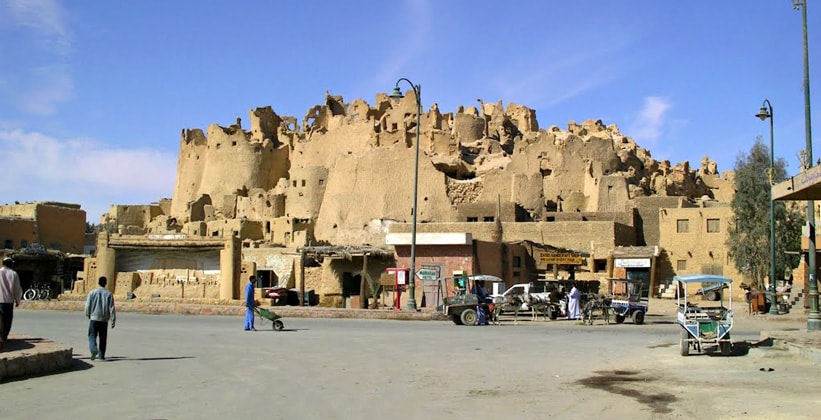 Старая часть города Сива в Египте