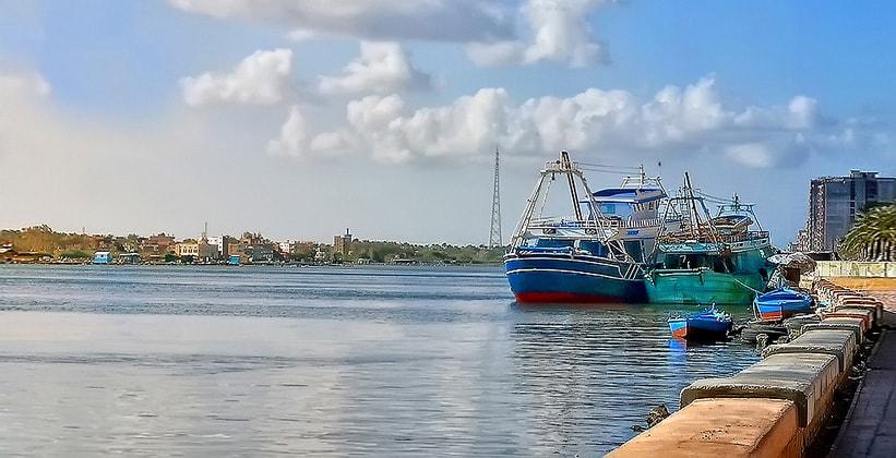 Порт Розетты в Египте