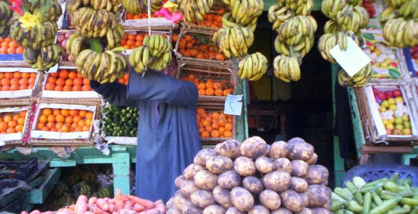 Продуктовый рынок в городе Мут (Египет)