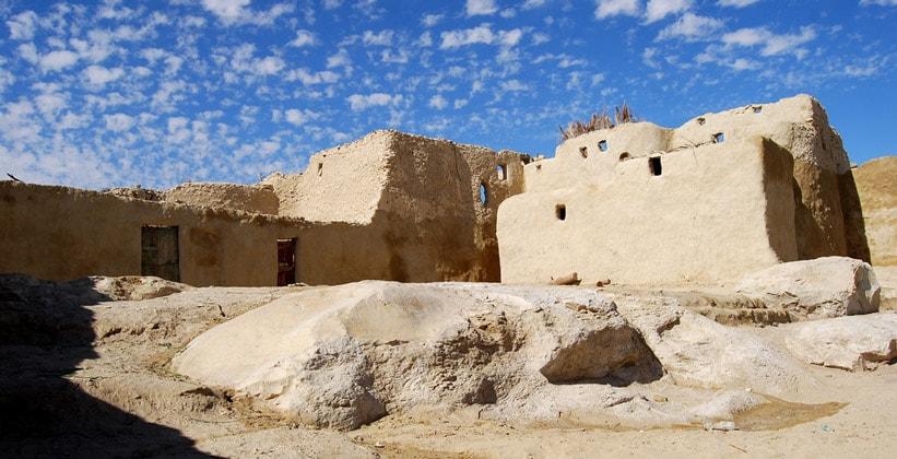 Деревня Каср-эль-Фарафра в Египте