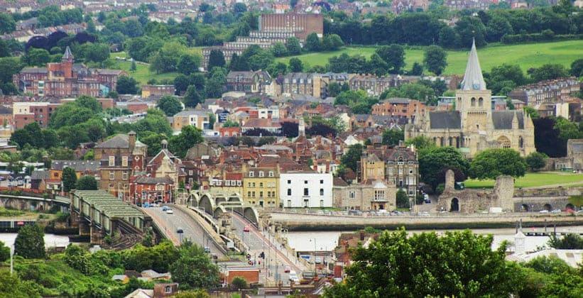 Город Рочестер в Англии