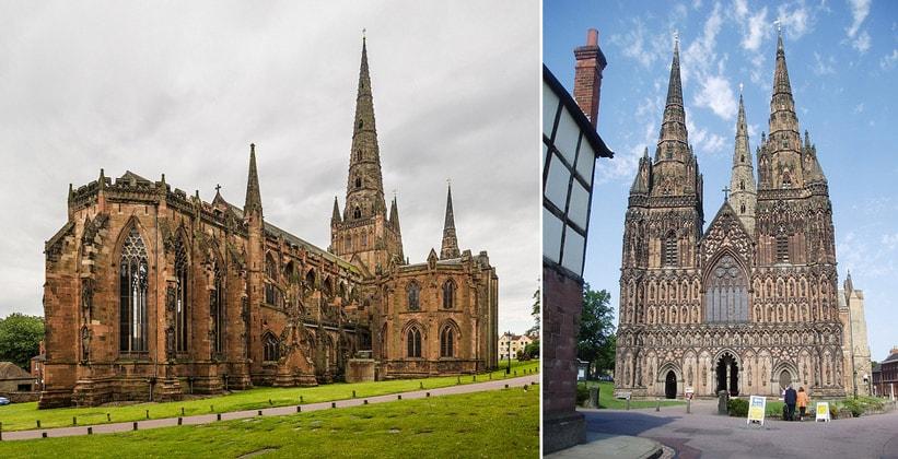 Личфилдский собор в Англии