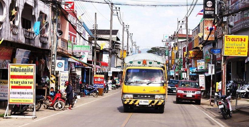 Город Чианг Кхонг в Таиланде