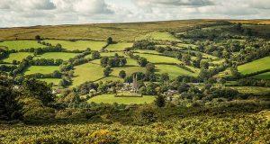 Холмистая местность Дартмур в Англии