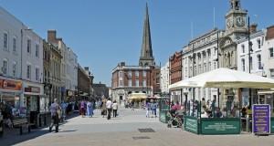 Город Херефорд в Англии