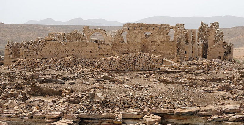 Руины храма Каср-Ибрим в Египте