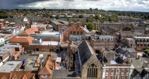 Город Личфилд в Англии