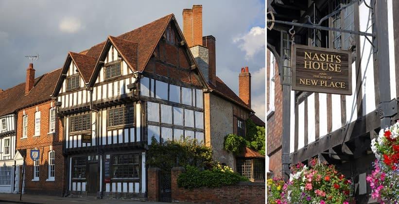 Дом Нэша в Стратфорд-апон-Эйвоне (Англия)