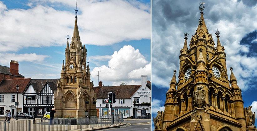 Часовая башня в Стратфорд-апон-Эйвоне (Англия)