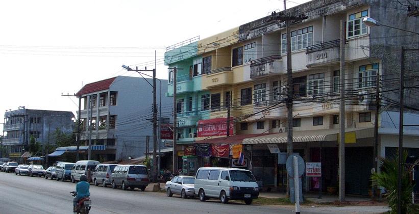 Город Накхонпханом в Таиланде
