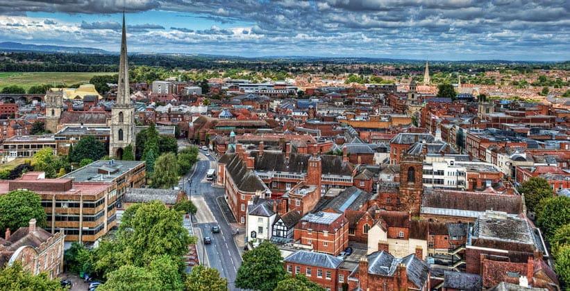 Город Вустер в Англии