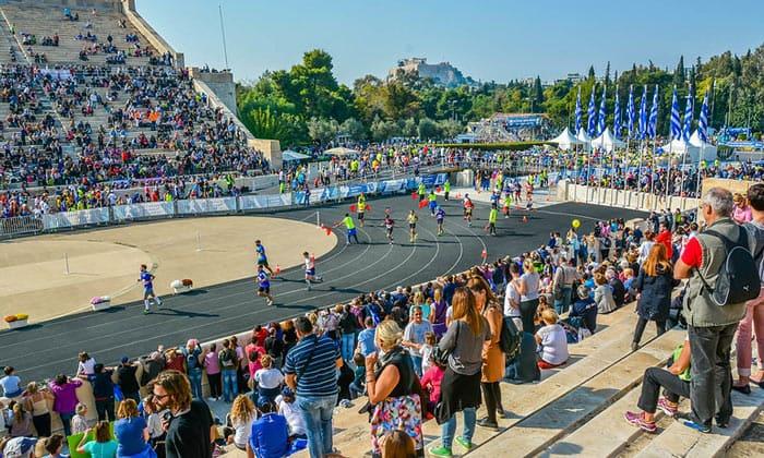 Афинский марафон в Греции