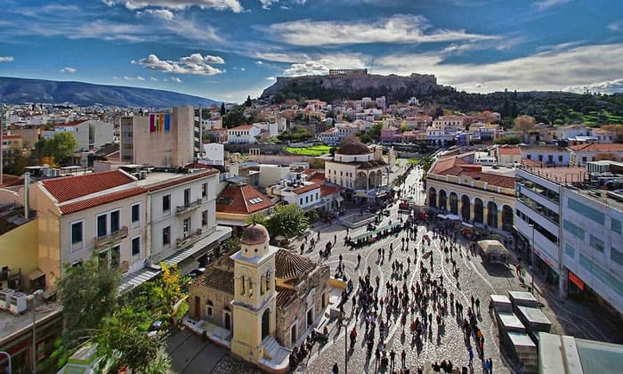Акрополь и Монастираки в Афинах