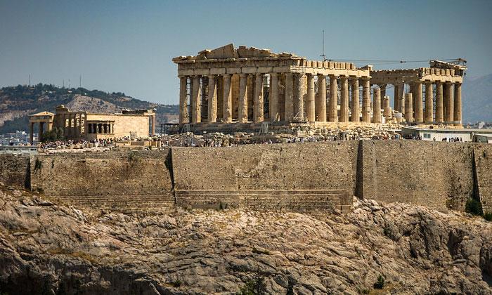Вид Акрополя с холма Филопаппа Афин