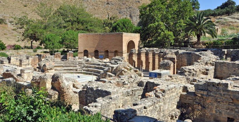 Останки древнегреческого города Гортис