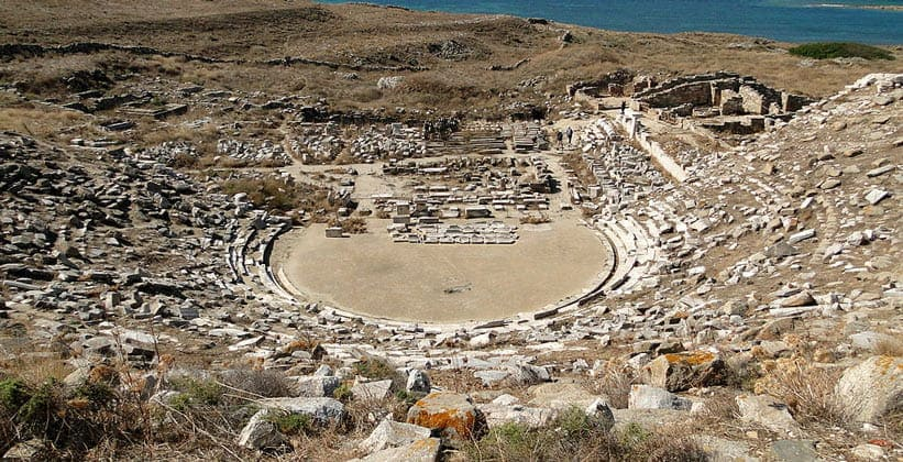 Античный театр на острове Делос