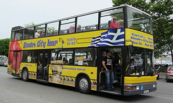 Экскурсионный автобус Rhodes City Tour в Греции