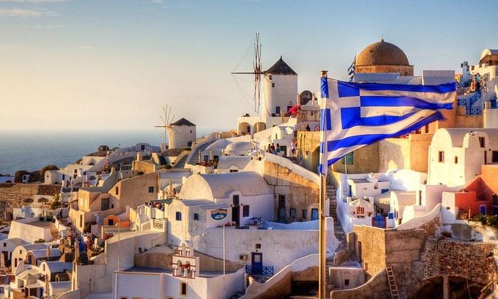 Флаг Греции (город Ия)