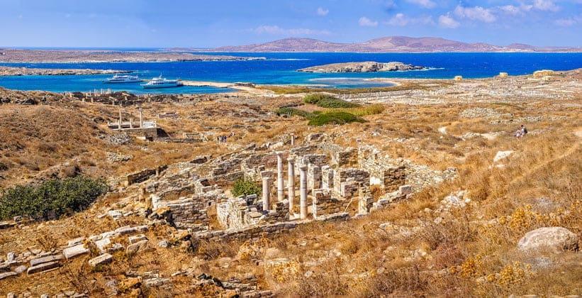 Остров Делос в Греции