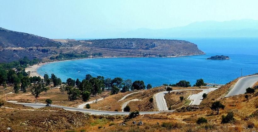 Пляж Каратонас в Греции
