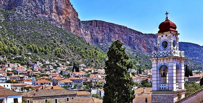 Городок Леонидион в Греции