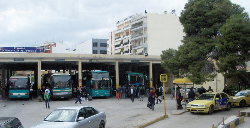 Автовокзал Лиосион в Афинах (Греция)