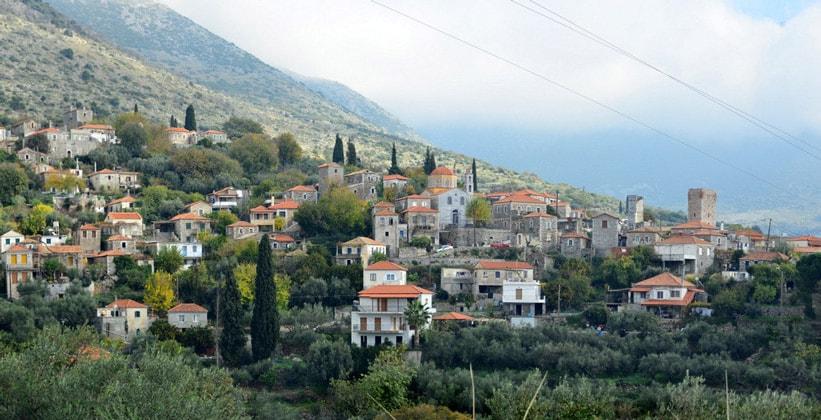Горная деревня Мани в Греции