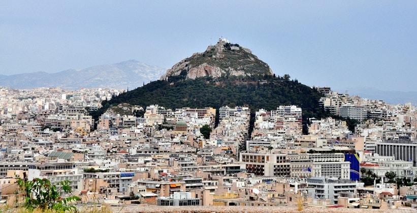 Холм Ликабет в Афинах (Греция)