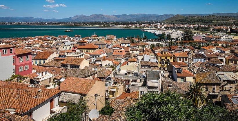 Город Нафплион в Греции