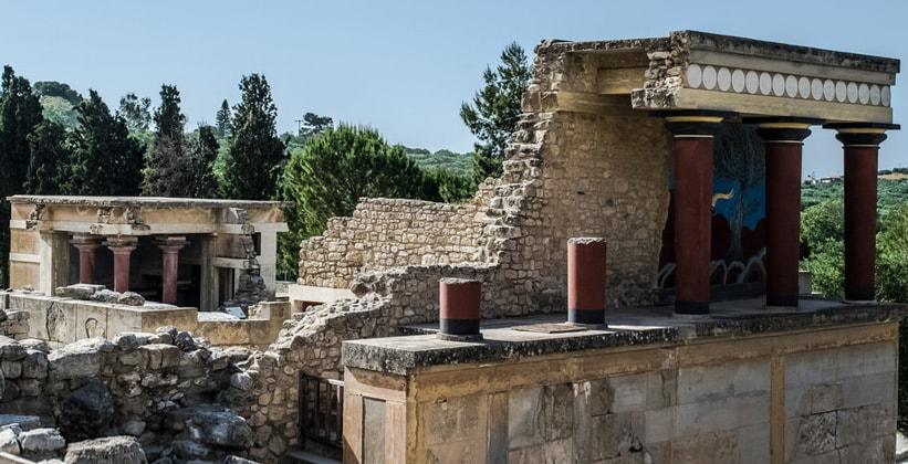 Остатки Кносского дворца в Греции