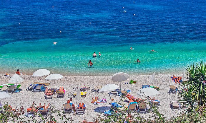 Пляж «Кассиопи» (остров Керкира)