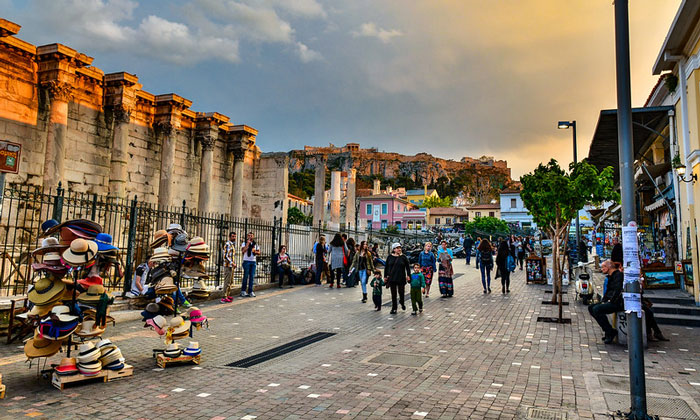 Район Монастираки в Афинах