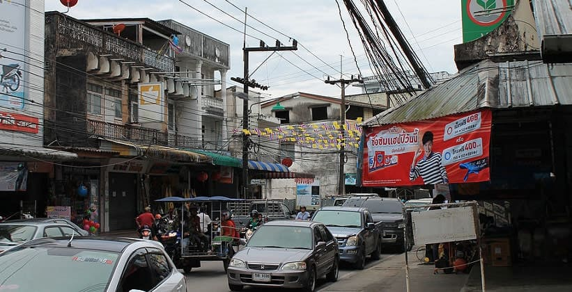 Город Ранонг в Таиланде